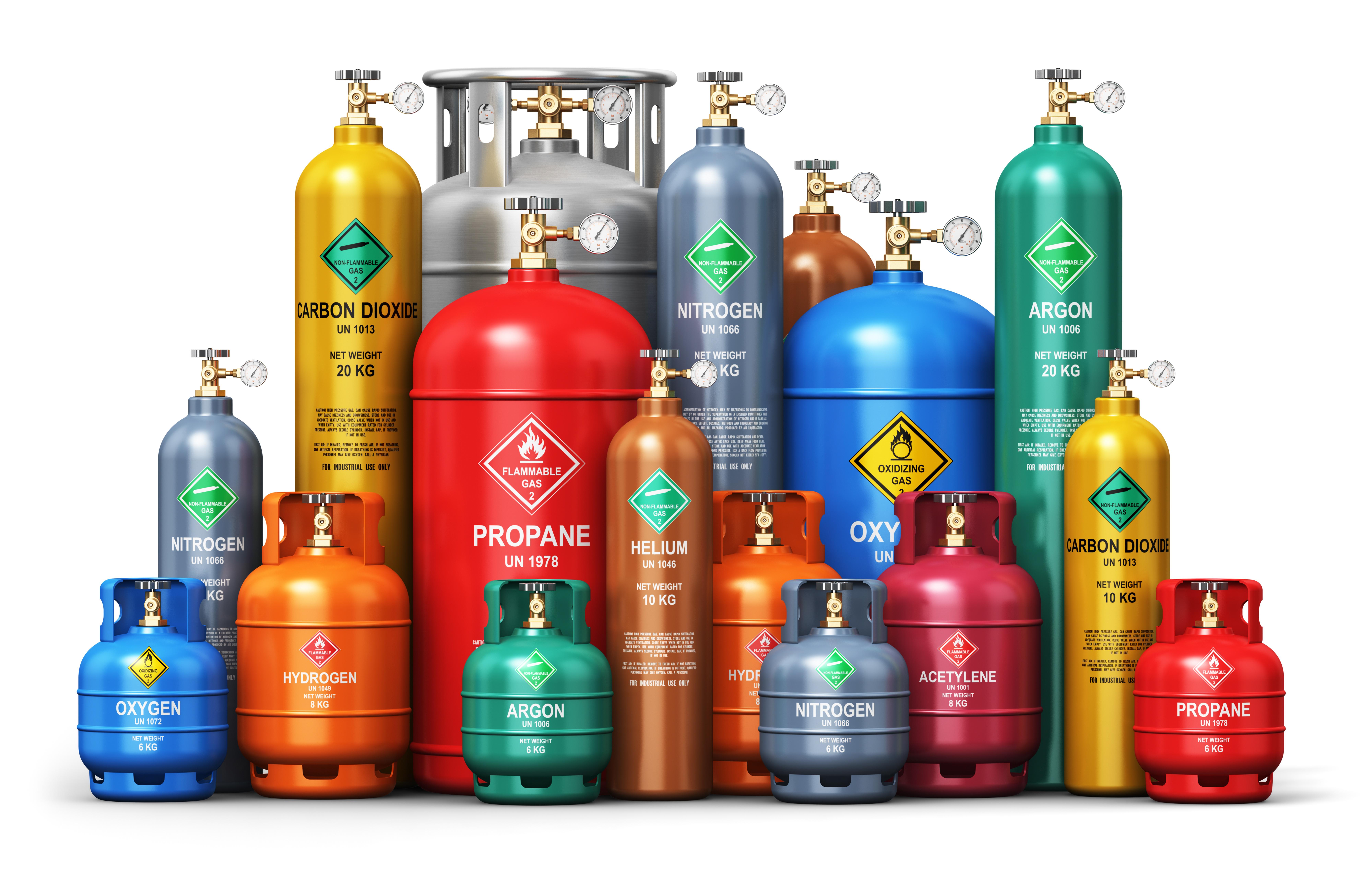 Газ, баллоны. Эксплуатация, транспортирование, хранение баллонов со сжатыми, сжиженными и растворенными под давлением газами